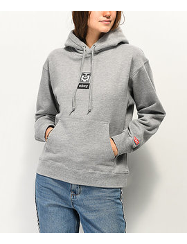 Obey Icon Face Heather Grey Hoodie by Obey