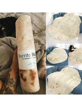 "Tortilla Blanket Burrito 60"" Blanket Corn And Flour Tortilla 60"" Throw Carpet Au by Unbrand"