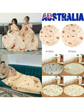 "Tortilla Blanket Burrito 60"" Blanket Corn And Flour Tortilla 60cm Carpet Throw by Unbranded"