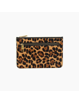 Contrast Zip Pouch In Calf Hair by J.Crew
