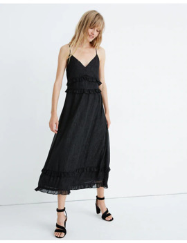 Shimmer Ruffle Cami Dress by Madewell
