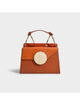 Phoebe Bis Bag In Ginger And Tomato Leather by Danse Lente