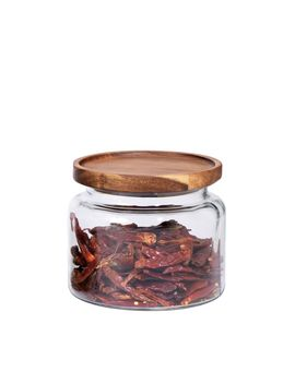 Glass Jar W/ Acacia Lids, 48 Oz by West Elm