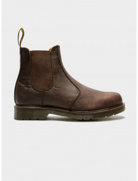 Unisex 2976 Crazy Horse Chelsea Boots In Gaucho Brown by Dr Martens