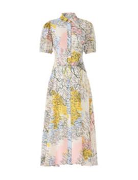 Map Button Down Midi Dress by Derek Lam 10 Crosby