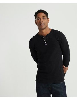 Legacy Long Sleeved Henley Top by Superdry
