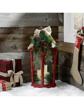 Christmas Floral Red Led Lantern by Kirkland's