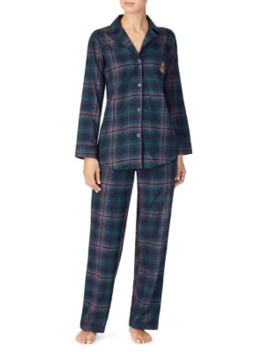 2 Piece Plaid Cotton Pyjama Set by Lauren Ralph Lauren