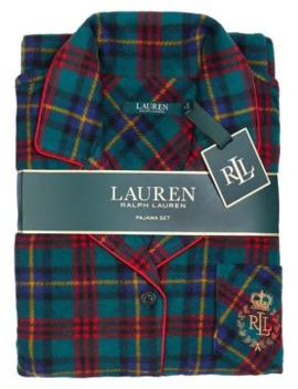 2 Piece Plaid Pyjama Set by Lauren Ralph Lauren