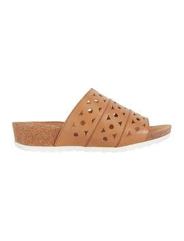 Dante Cognac Glove Sandal by Wide Steps