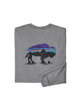 Patagonia Men's Long Sleeved Fitz Roy Bison Responsibili Tee® by Patagonia