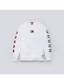 Flag Long Sleeve T Shirt by Tommy Hilfiger