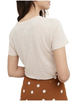 Linen Crew Tee by Witchery
