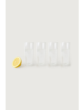 Tall Clear Glass Cup Set Of 4 by Oak + Fort