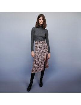 Jacquard Printed Split Skirt by Maje
