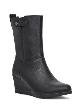 Potrero Waterproof Leather Wedge Boots by Ugg