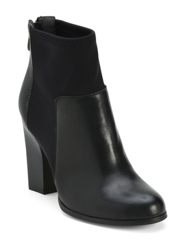 Leather Block Heel Boots by Tj Maxx