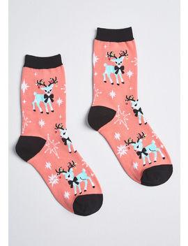 Deck The Deer Socks by Sock It To Me, Inc.