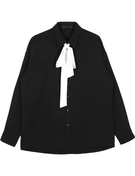 Prince Ribbon Tie Blouse by Open The Door