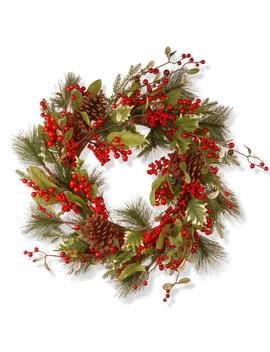 28 In. Red Berry Artificial Wreath by National Tree Company