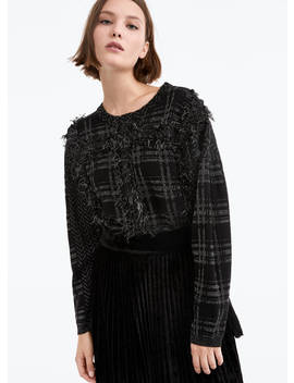 Jacquard Sweater With Braided Appliqués by Uterqüe