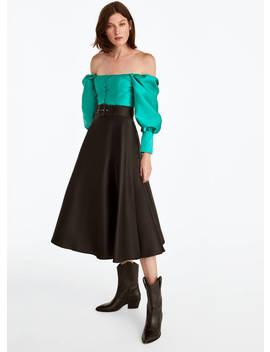 Black Layered Skirt by Uterqüe
