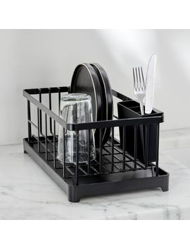 Yamazaki Tower Black Wire Dish Drainer Rack by Crate&Barrel
