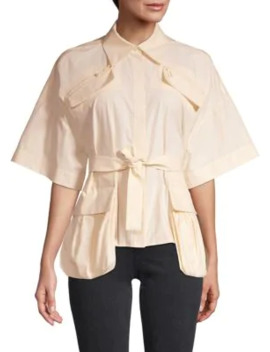 Tie Front Cotton Top by Fendi