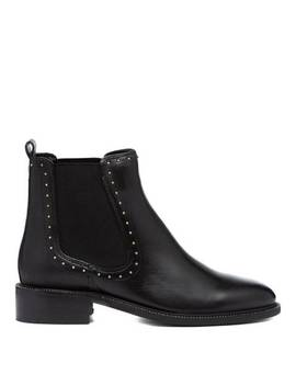 Black Thank Studded Chelsea Boots by Carvela