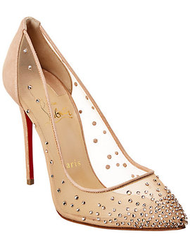 Christian Louboutin Follies Strass 100 Mesh Pump by Christian Louboutin
