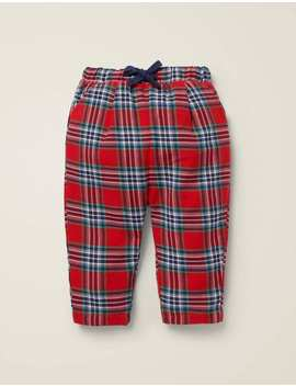 Brushed Check Pants by Boden