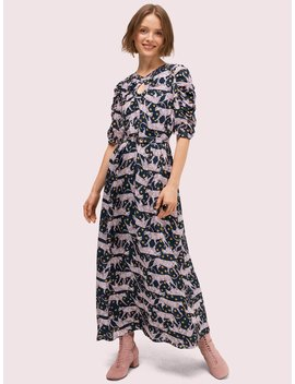 Panther Dot Midi Dress by Kate Spade