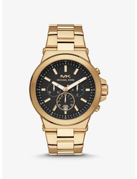 Oversized Dylan Gold Tone Watch by Michael Kors