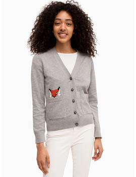 Broome Street Fox Cardigan by Kate Spade