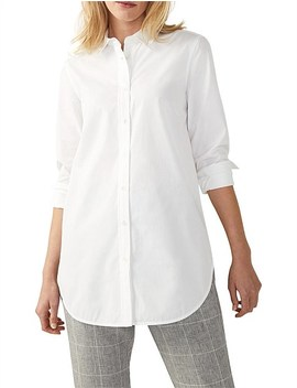 Cotton Poplin Shirt by Trenery