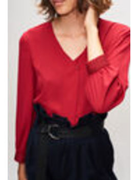 Red Apron Blouse by Claudie Pierlot