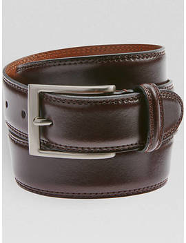 Joseph Abboud Burgundy Leather Belt by Joseph Abboud