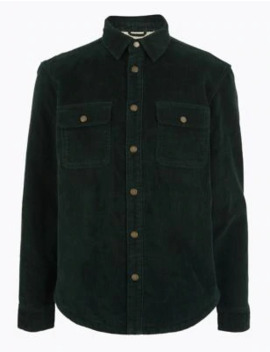 Pure Cotton Corduroy Overshirt by Marks & Spencer