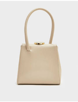 Mademoiselle Bag In Patent Ivory by Little Liffner Little Liffner