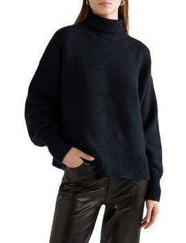 Pheliana Oversized Cashmere Turtleneck Sweater by The Row