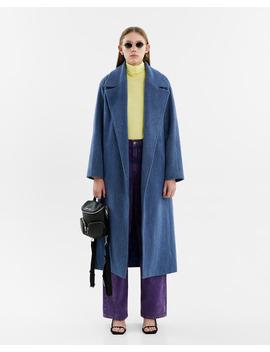 Oversize Blue Wool Coat by Bimba Y Lola