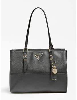 Schultertasche Carys Saffian Optik by Guess