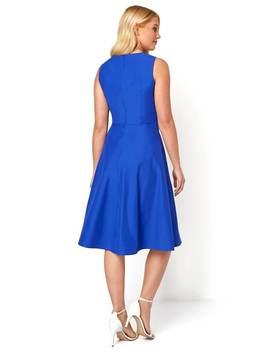 Cotton Tie Waist Midi Dress Cotton Tie Waist Midi Dress by Roman Originals