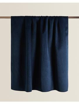 Textured Velvet Blanket Blankets   Bedroom by Zara Home