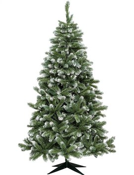 Vail Grey Green Christmas Tree With Frost Tips 210cm by David Jones