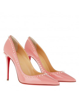 Anjalina 100 Pumps Leather Crepon/Metal Apricot by Christian Louboutin