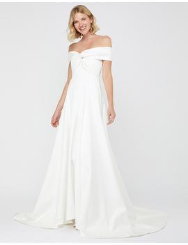 Hannah Bridal Bardot Satin Maxi Dress by Monsoon
