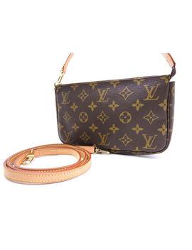 Louis Vuitton Pochette Accessoires Pouch Hand Bag Monogram Canvas M51980 V 0961 by Louis Vuitton