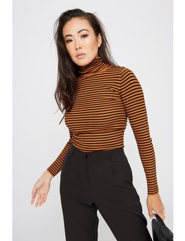 Striped Knit Turtleneck by Urban Planet