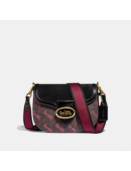Kat Saddle Bag With Horse And Carriage Print by Coach